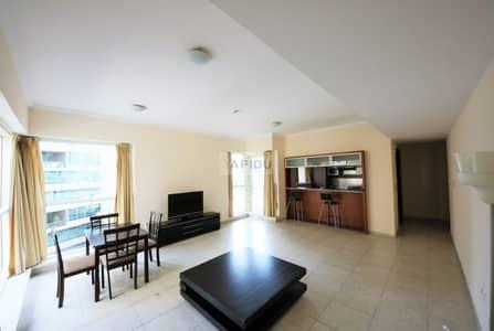 1 Bedroom Apartment for Rent in Dubai Marina, Dubai - Pool View Semi Furnished  Vacant Apartment