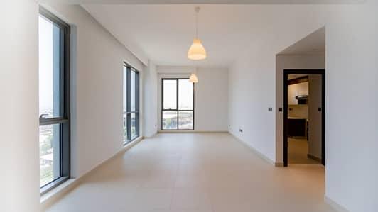 فلیٹ 1 غرفة نوم للايجار في الميناء، دبي - wasl port views - Living Room
