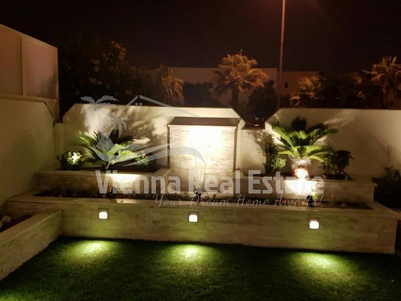 Single row Fully modified villa with extended garden