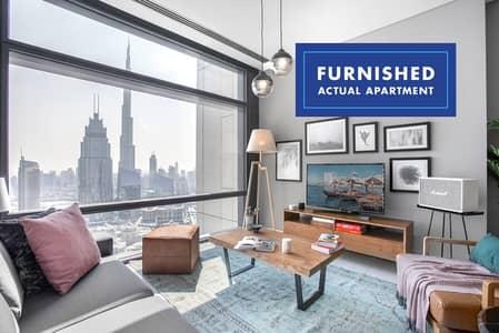 فلیٹ 1 غرفة نوم للايجار في مركز دبي المالي العالمي، دبي - Burj Khalifa View   Furnished   Pool & Gym
