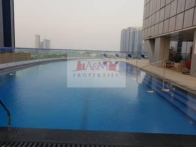شقة 1 غرفة نوم للايجار في منطقة الكورنيش، أبوظبي - Hot deal fully furnished spacious 1 bedroom apartment including water and electricity