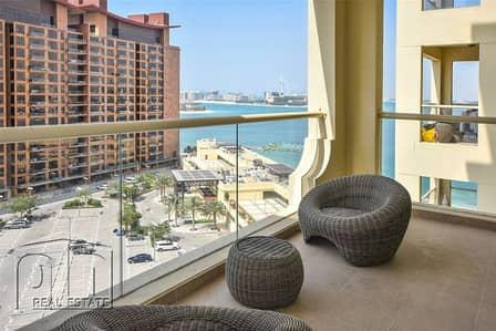 شقة 1 غرفة نوم للايجار في نخلة جميرا، دبي - Clean Furnished 1Bed B Type RHS Sea View