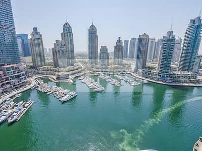 شقة 2 غرفة نوم للايجار في دبي مارينا، دبي - Full Marina View | 2 BR | Vacant in July
