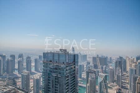 شقة 2 غرفة نوم للايجار في دبي مارينا، دبي - Vacant - Unfurnished - Partial Marina View