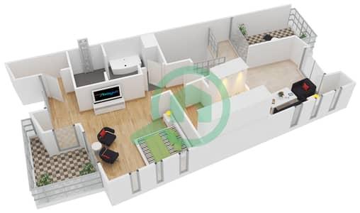 Sandoval Garden - 3 Beds Townhouses type Tularosa Floor plan