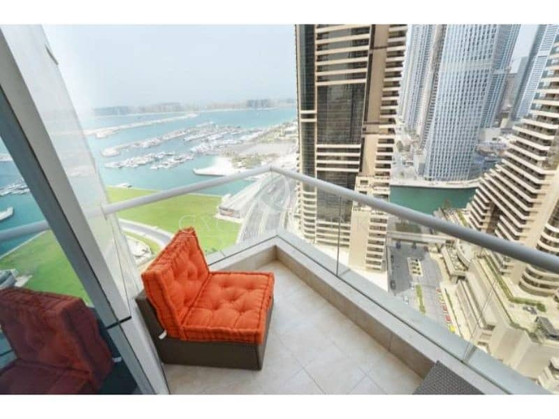 Sea View fully furnished 1 bed to rent in Botanica