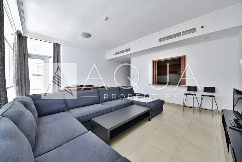 Fully Furnished Marina View   High Floor