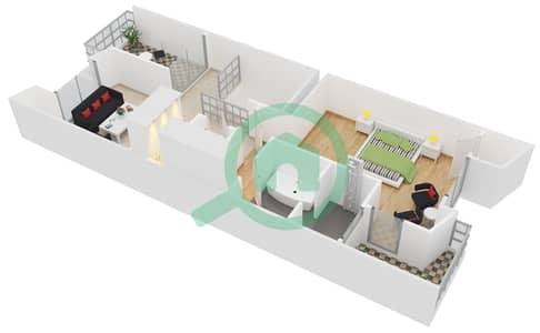 Sandoval Garden - 3 Beds Townhouses type Lacueva Floor plan
