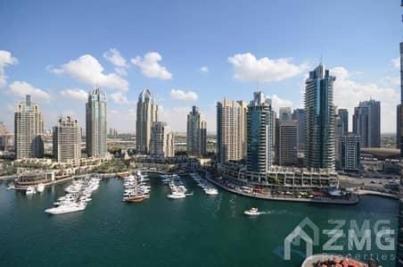 شقة 1 غرفة نوم للايجار في دبي مارينا، دبي - Spacious 1 BR|High Floor|Chiller free|Marina view