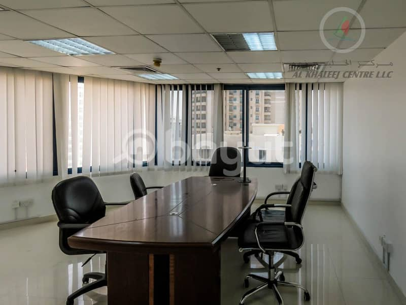 1 1 MONTH FREE PROMOTION! BIG OFFICE WITH  PARTITION AVAILABLE IN BUR DUBAI