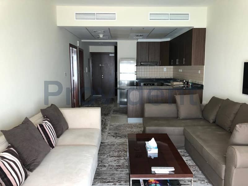 Elegantly Furnished 1 BR | Full Sea View