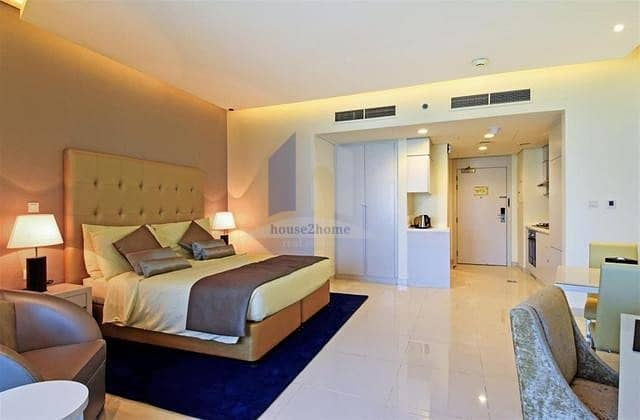 2 Canal View Fully Furnished Hotel Apartment For Rent | Damac Maison The Vogue