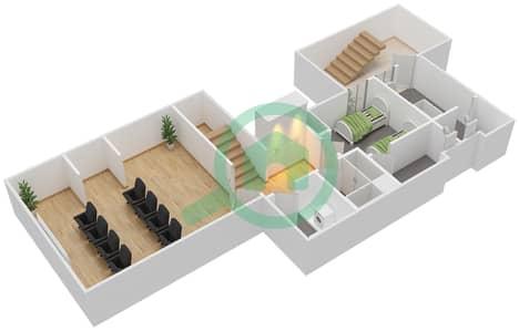 المخططات الطابقية لتصميم النموذج E فیلا 6 غرف نوم - تلال الغاف