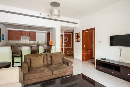 فلیٹ 1 غرفة نوم للايجار في الروضة، دبي - Large Fully Furnished Ground Floor 1 Bed with Garden View