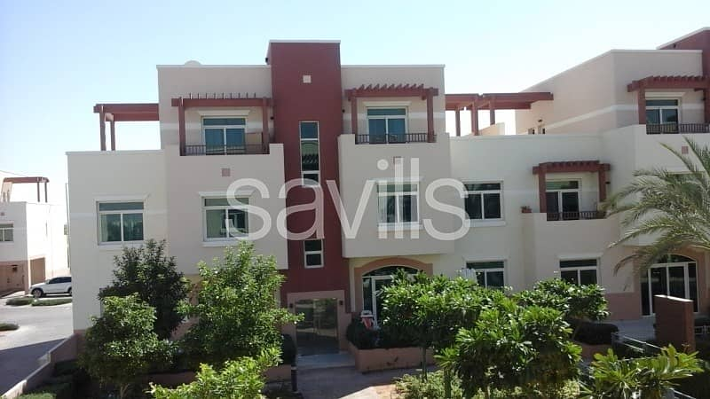 1 One bedroom terrace apartment pool view for 55k only