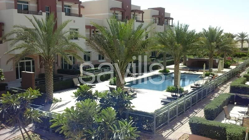 2 One bedroom terrace apartment pool view for 55k only