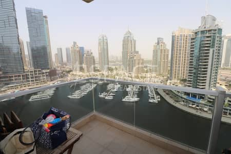 3 Bedroom Flat for Rent in Dubai Marina, Dubai - Chiller Free-Unfurnished-Full Marina View