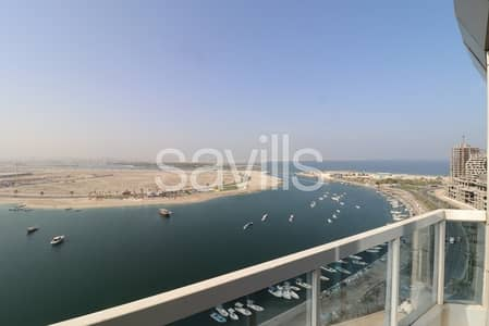 1 Bedroom Apartment for Sale in Al Khan, Sharjah - Spacious full sea view apartment on mid floor