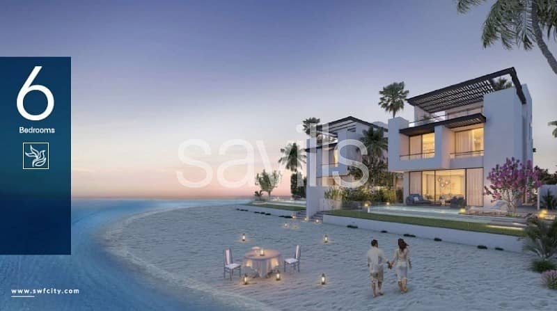 Luxury 6 bedroom villa with beach  and marina