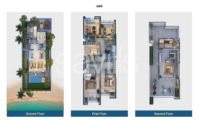 13 Luxury 6 bedroom villa with beach  and marina