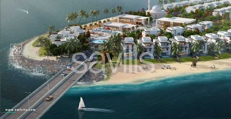 Independent beach villa with access to marina