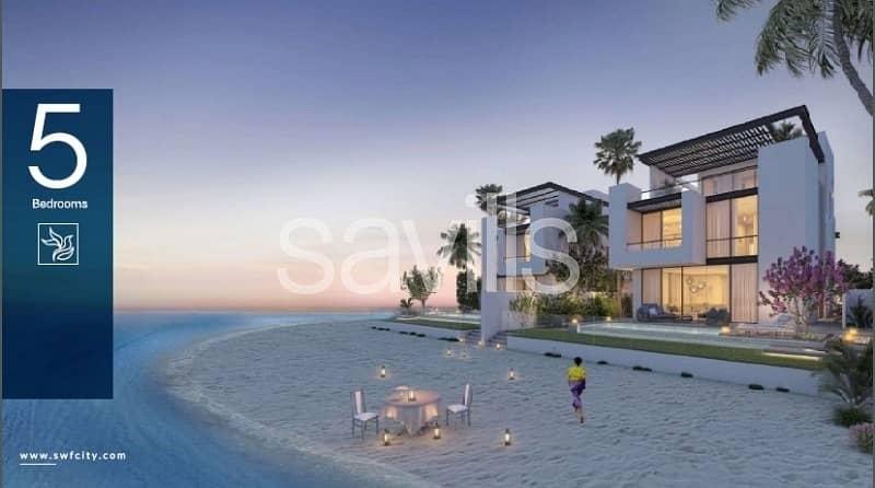 Spacious 5 bedroom villa with beach  and marina