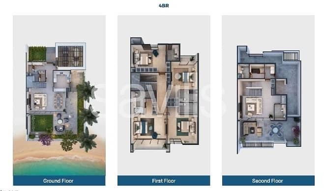 16 Independent beach villa with access to marina