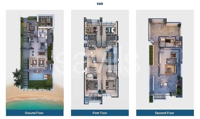 15 Spacious 5 bedroom villa with beach  and marina