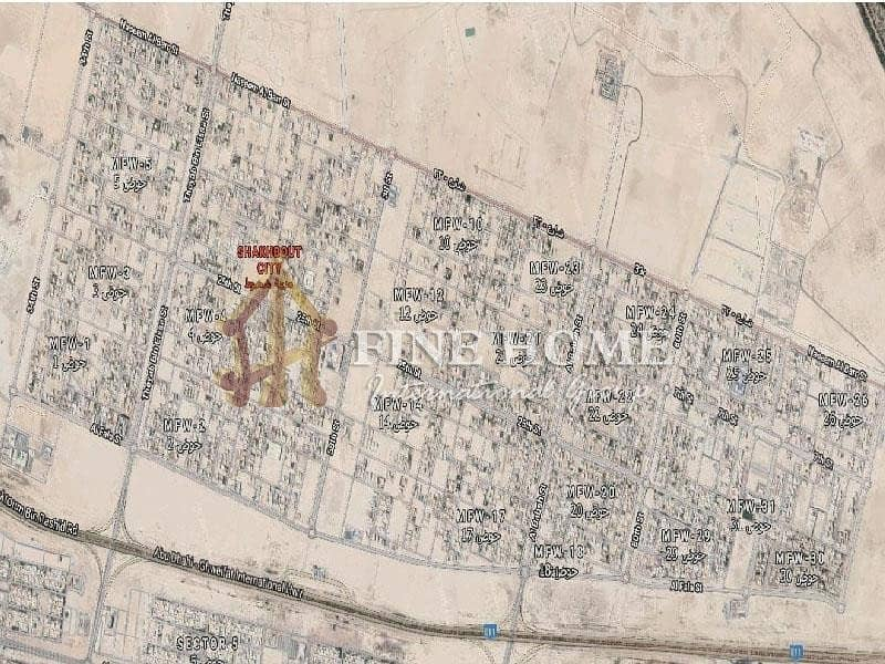 2 Great Residential land in Shakhbout City