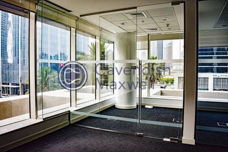 مکتب  للايجار في وسط مدينة دبي، دبي - Fitted Unit I Emaar Square I Glass Partitioned
