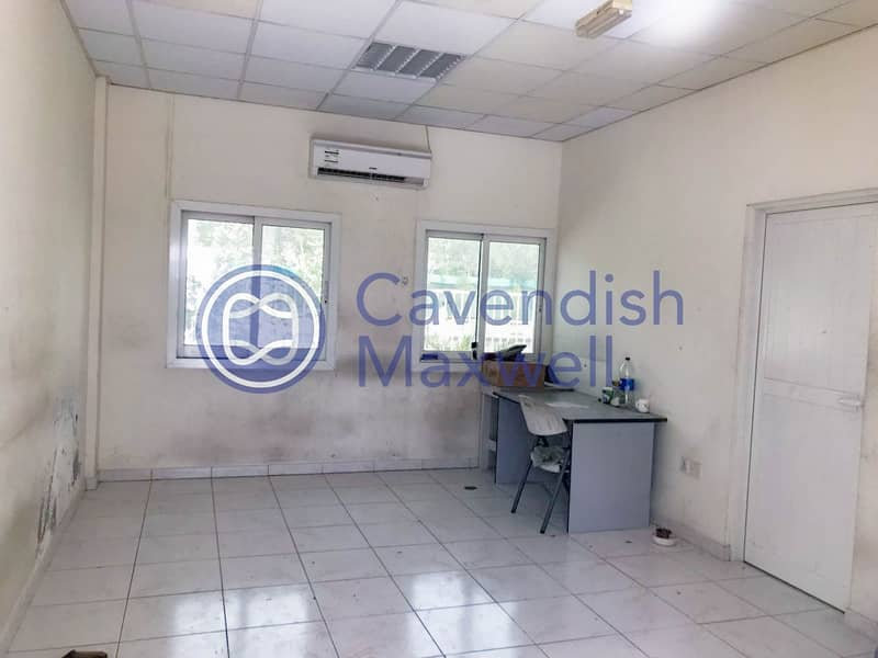 2 Large Plot With Small Office- For Rent