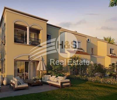 3 Bedroom Townhouse for Sale in Serena, Dubai - Resale End Corner Unit next to Garden and Mall