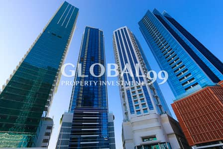 3 Bedroom Apartment for Rent in Corniche Road, Abu Dhabi - High Floor & Sea View  / pay in 4 Chqs