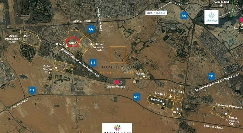 15 Massive Residential Plot in Arjan Dubailand