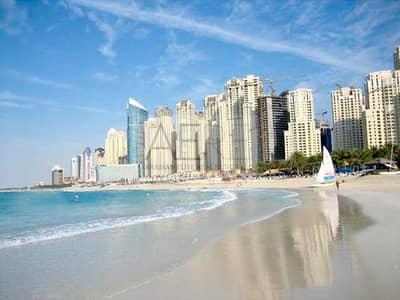 شقة 3 غرفة نوم للبيع في مساكن شاطئ جميرا (JBR)، دبي - Upgraded 3 Bed w/ Maid's | Partial Marina View