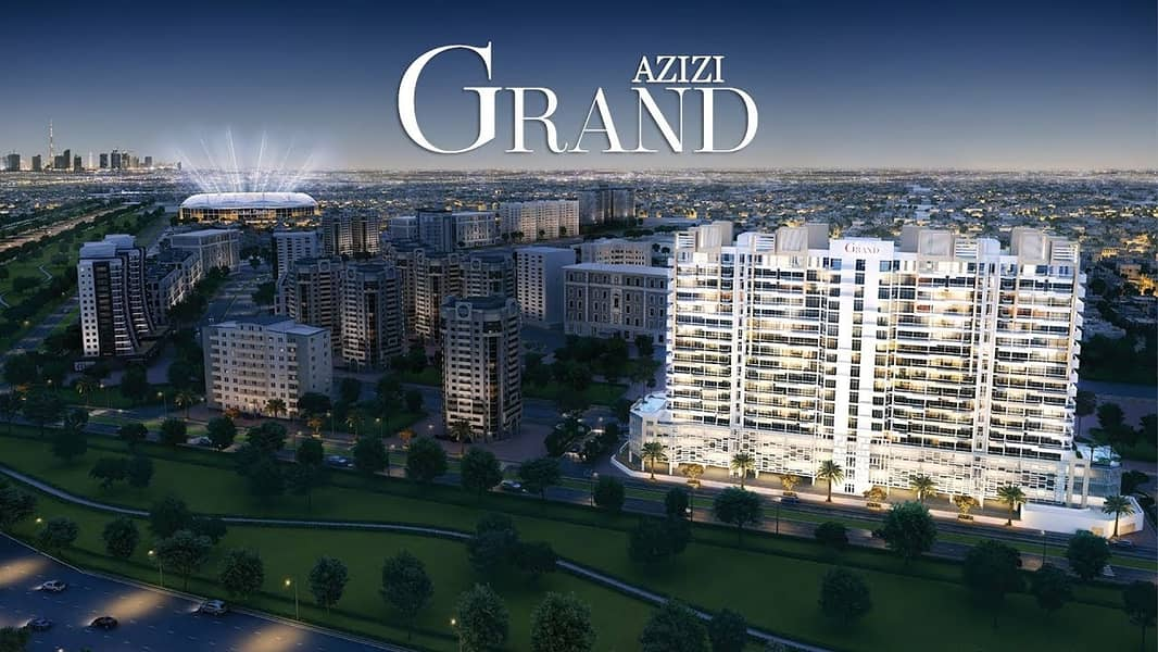 1 Prestigious Address Overlooking Park! Avail an apartment in Azizi Grand now !