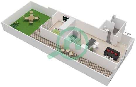 Al Ghadeer - Studio Townhouse Type MAISONETTE ST-1B-B Floor plan