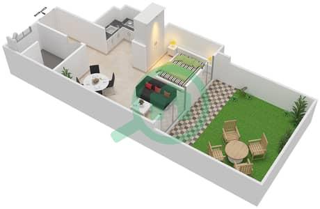 Al Ghadeer - Studio Townhouse Type MAISONETTE ST-1B-D Floor plan