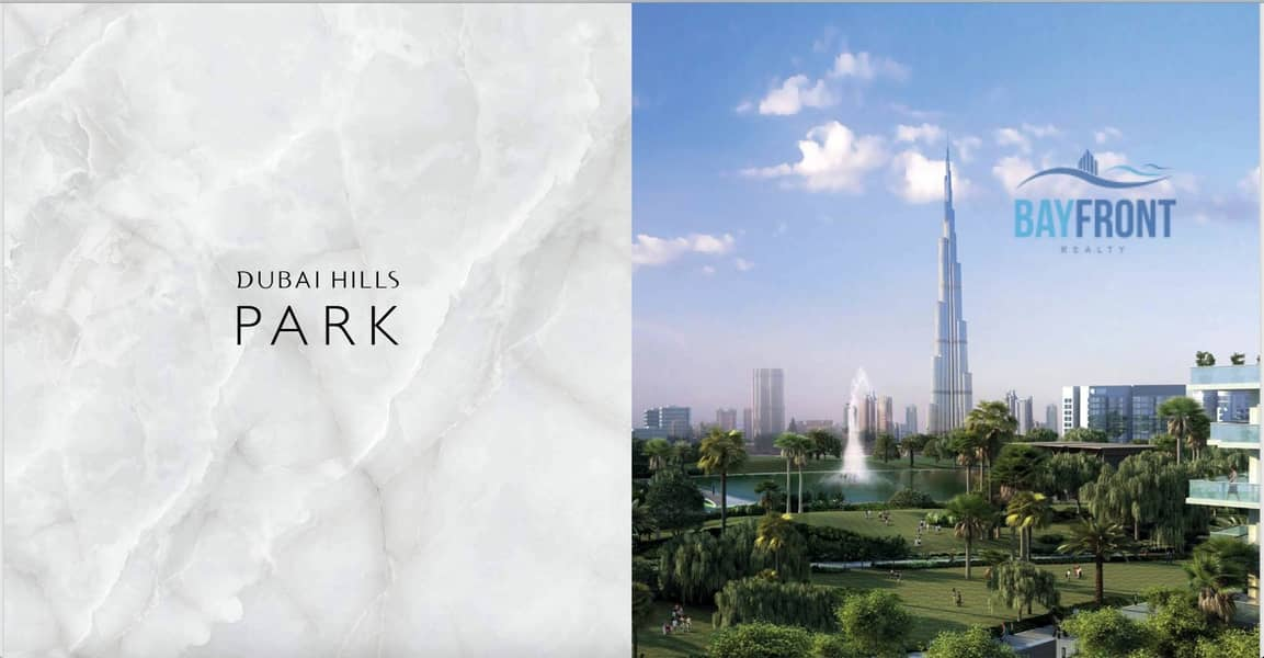 10 Facing Dubai Hills Boulevard   Payable in 4 Years