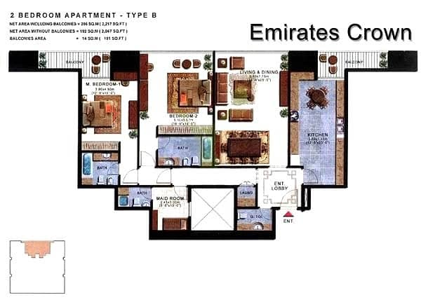 10 Spacious 2 Bed   Maids   2500sq ft   Vacant