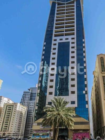 1 Bedroom Apartment for Rent in Al Taawun, Sharjah - Emirates Tower 1 BHK  Al Tawun