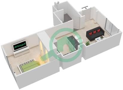 Al Ghadeer - Studio Townhouse Type MAISONETTE ST-1B-F Floor plan