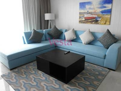 شقة فندقية 1 غرفة نوم للايجار في منطقة الكورنيش، أبوظبي - Sae view