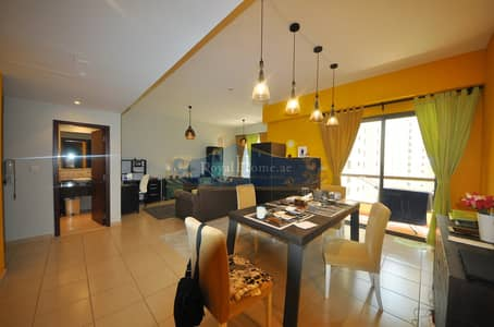 2 Bedroom Flat for Rent in Jumeirah Beach Residence (JBR), Dubai - Furnished Spacious 2 BR apt in Rimal 2