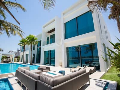 6 Bedroom Villa for Sale in Palm Jumeirah, Dubai - Brand New  World Class Contemporary Villa On Palm