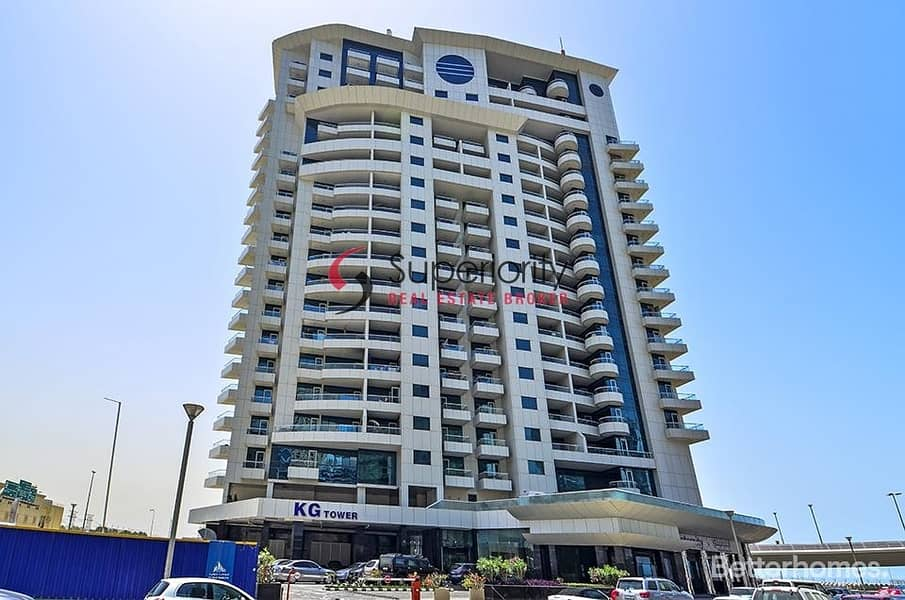 Stunning view of  a sea a Huge 3 bed Plus maid+5 Bath in KG Tower