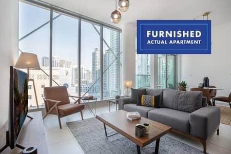 1 Bedroom Flat for Rent in Dubai Marina, Dubai - Marina View  Stylish Interiors   Furnished