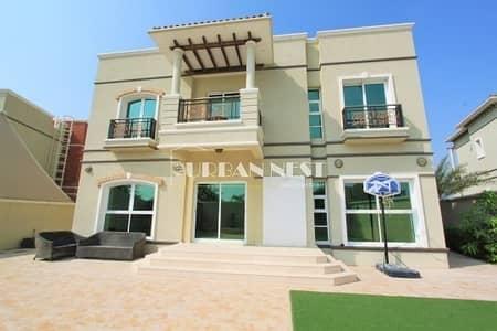 5 Bedroom Villa for Sale in Dubai Sports City, Dubai - Gorgeous golf views from Gallery villa