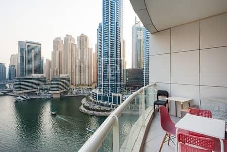 شقة 2 غرفة نوم للايجار في دبي مارينا، دبي - Superb 2BR plus Study 2 minute walk to Marina Mall