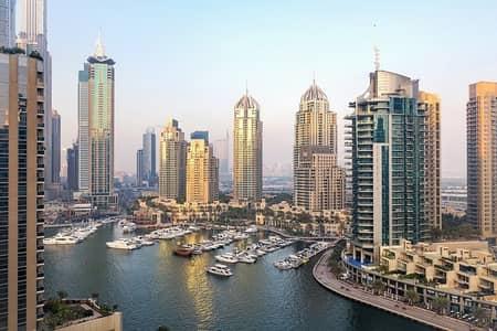 فلیٹ 3 غرف نوم للايجار في دبي مارينا، دبي - Stunning view to Dubai Marina